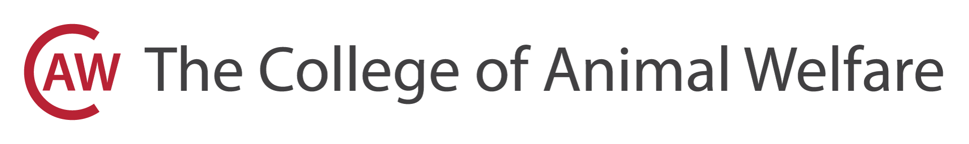 The College of Animal Welfare Logo