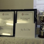 Award winners' trophies