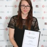 Courtney Houlden: Level 3 Diploma in Veterinary Nursing, Personal Achievement Certificate
