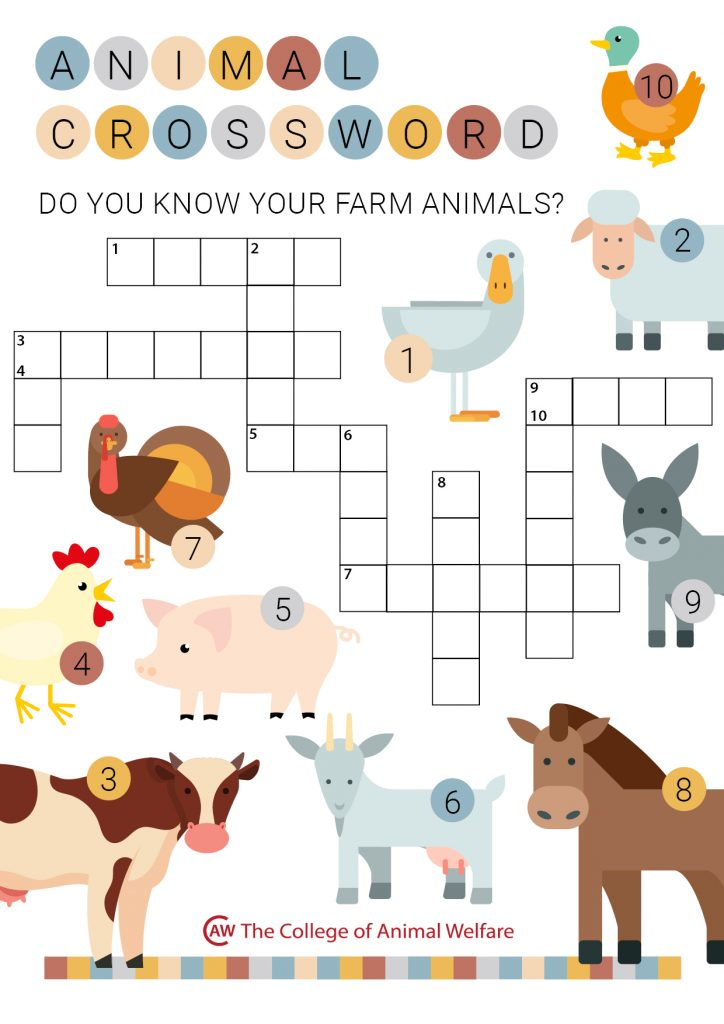 Farm Animal Crossword