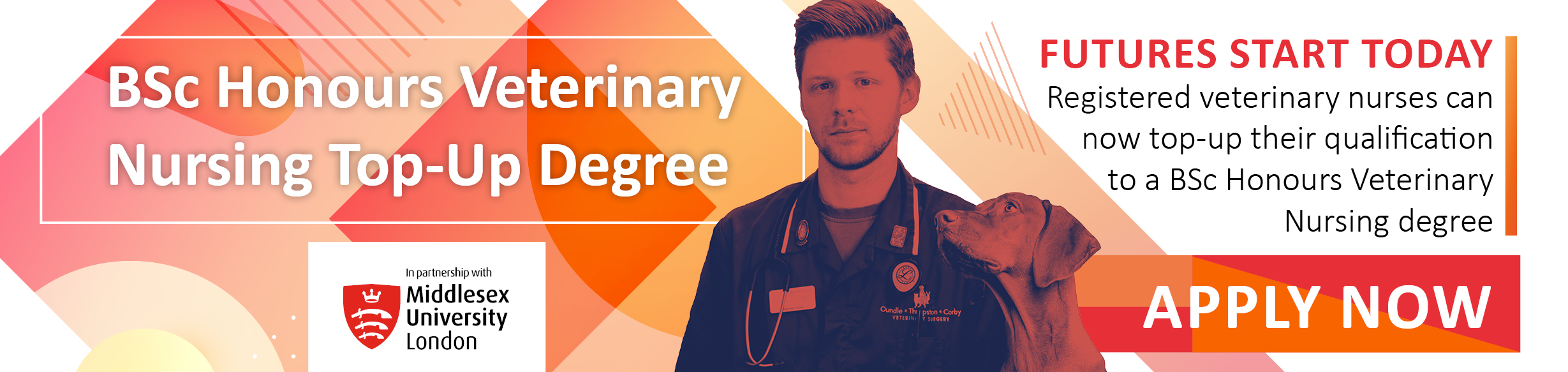 Course: BSc Honours Veterinary Nursing Top-Up Degree (Middlesex University)
