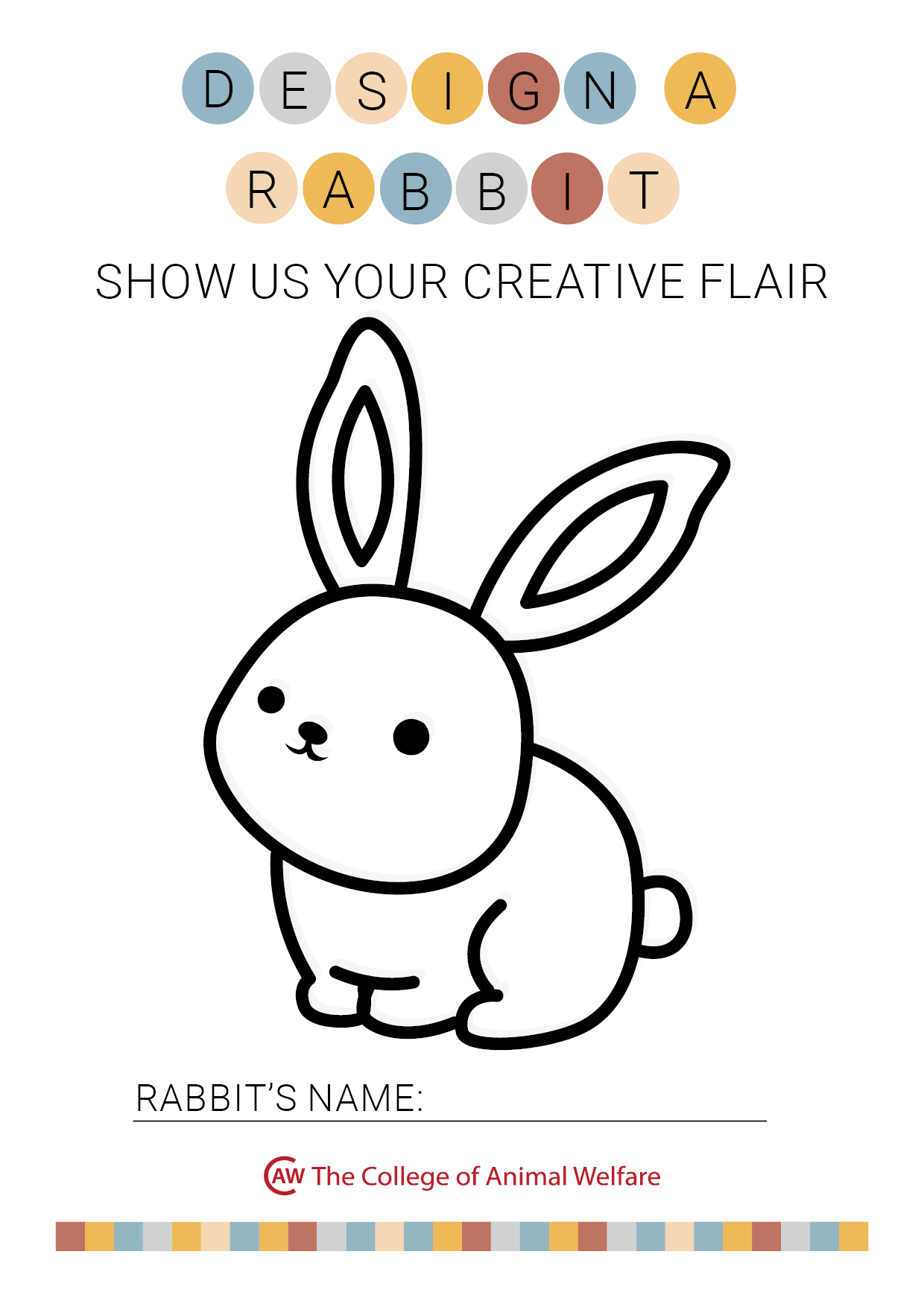 Design a rabbit colouring sheet